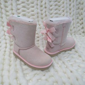 New UGG Bailey Bow II Girls Kids Pink Boots 3